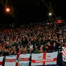 England fans chanted disgraceful songs aimed at Germany supporters. PA