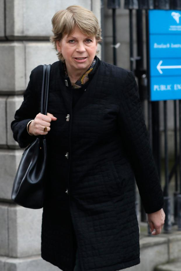 Maureen O Hagan, of Elton Park, Sandycove, Dublin pictured leaving the Four Courts yesterday(Thurs) after she settled her HIgh Court action for damages. Pic: Collins Courts