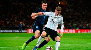 Michael Keanein action against Timo Werner last night