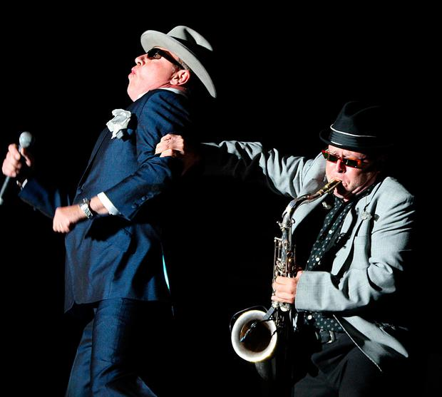 Suggs and Lee Thompson of Madness perform at Electric Picnic in 2009. Photo: PA