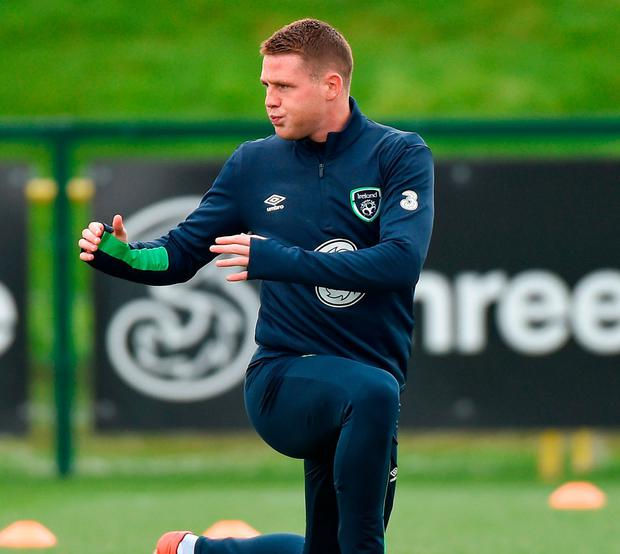 James McCarthy looks to be available to help negate the threat of Gareth Bale after the Everton midfielder recovered from a hamstring injury. Photo: Matt Browne/Sportsfile