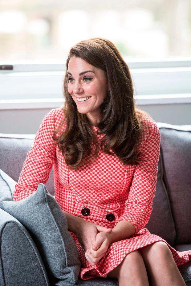 Catherine, Duchess of Cambridge attends a parent support group during the launch of maternal mental health films ahead of mother's day at Royal College of Obstetricians and Gynaecologists on March 23, 2017 in London, England.