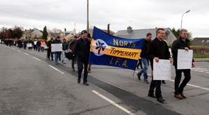 Farmers protesting in Nenagh.