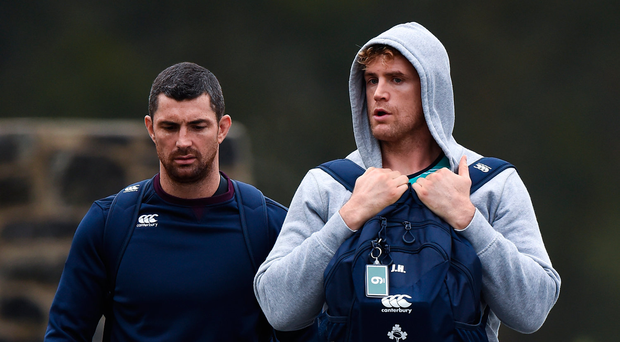 Rob Kearney, left, and Jamie Heaslip