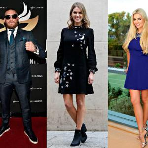 (L-R) Pippa O'Connor, Conor McGregor, Amy Huberman, Rosanna Davison