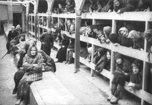 The living conditions at the Nazi slave labour camps Picture: Reuters