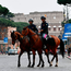 Police on patrol in Rome yesterday as European leaders arrived to celebrate the 60th anniversary of the EU's founding Treaty of Rome