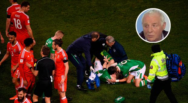 WATCH: 'You don't see those tackles every week' - Eamon Dunphy slams Neil Taylor's 'filthy' tackle on Seamus Coleman