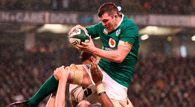 Peter O'Mahony in action against England last weekend – the Munsterstar will be keen to return to his province and prove a point to the Irish coaches. Photo: Sportsfile