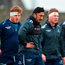 Finlay Bealham, Bundee Aki, and Tom McCartney during training. Photo: Sportsfile