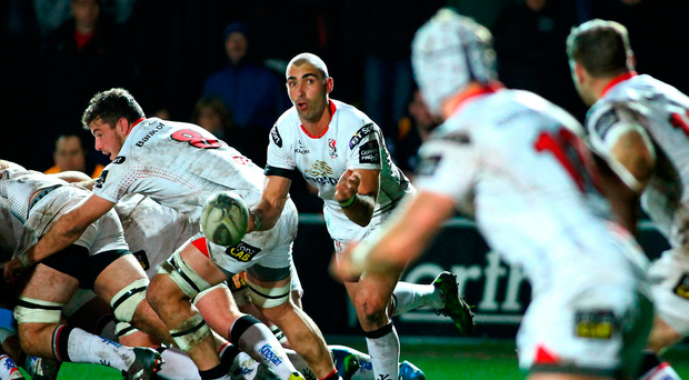 Ulster's Ruan Pienaar makes a pass. Photo: Sportsfile
