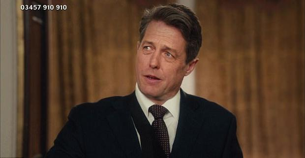 Hugh Grant reprised his role as former British Prime Minister in Comic Relief Actually