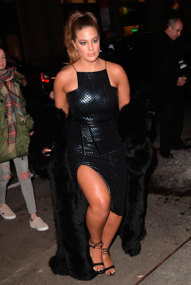 Ashley Graham attends the Sports Illustrated Swimsuit 2017 Launch Event - Outside Arrivals at Center415 Event Space on February 16, 2017 in New York City. (Photo by Gustavo Caballero/Getty Images)