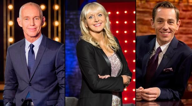 (L to R) Ray D'Arcy, Miriam O'Callaghan and Ryan Tubridy