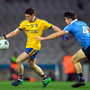 Ciarán Murtagh of Roscommon in action against David Byrne of Dublin. Photo by Brendan Moran/Sportsfile