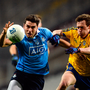 Bernard Brogan of Dublin in action against Conor Devaney of Roscommon during the Allianz Football League Division 1 Round 6 game between Dublin and Roscommon at Croke Park. Photo by Daire Brennan/Sportsfile