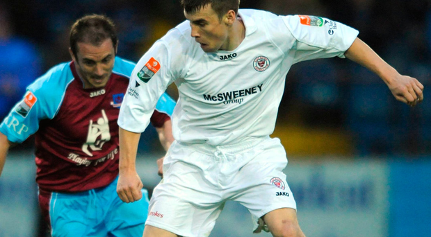 Seamus Coleman in action for Sligo Rovers against Drogheda United. Photo: Sportsfile