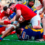 James Cronin scores Munster's sixth try. Photo: Sportsfile