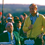Clifford Roberts looks on as Jack Nicklaus speaks at the Presentation Ceremony after winning the 1972 Masters Tournament at Augusta National. Photo: Getty Images