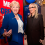 Big losses: Arts Minister Heather Humphreys, left, and RTE Director General Dee Forbes arrive at the launch of RTE's Cruinniu na Casca at Dublin Castle last Thursday Photo: Tony Gavin