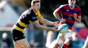 Young Munster's Cian Bohane in action during yesterday's Ulster Bank League game against Clontarf. Photo: INPHO/Tommy Dickson