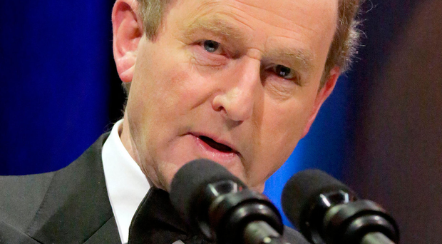 Flattery: Enda Kenny spoke of Donald Trump's win Photo: Gerry Mooney