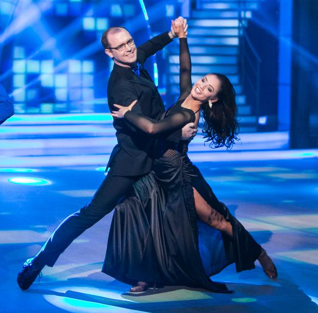Judge Brian Redmond during the Final of RTE's Dancing with the stars. (picture: Kyran O'Brien)