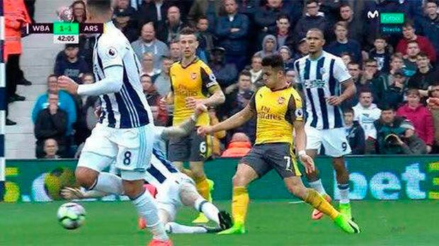 McClean tackles Arsenal's Alexis Sanchez during West Brom's recent victory