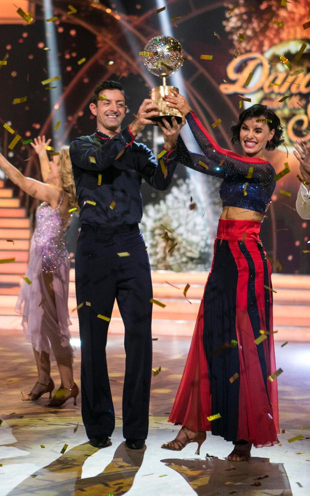 Aidan O'Mahony & Valeria Milova , celebrate winning the Final of RTE's Dancing with the stars.