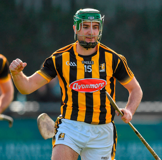 Conor Martin of Kilkenny celebrates after scoring his side's first goal. Photo by Brendan Moran/Sportsfile
