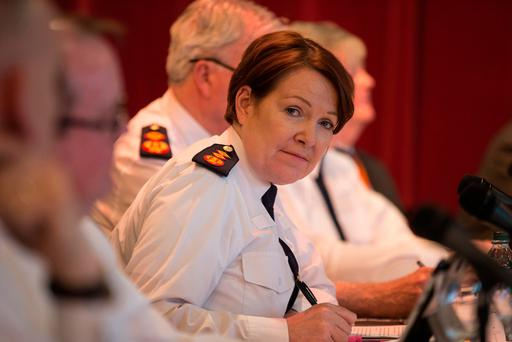 Garda Commissioner Noírín O'Sullivan has reiterated that the force's trust and integrity is on the line, and has called on individual gardaí to step up to the mark with the highest standards Picture: Mark Condren