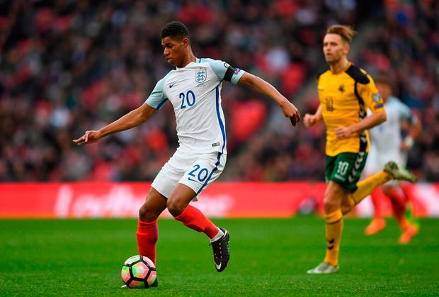 Marcus Rashford of England in action. Photo by Shaun Botterill/Getty Images