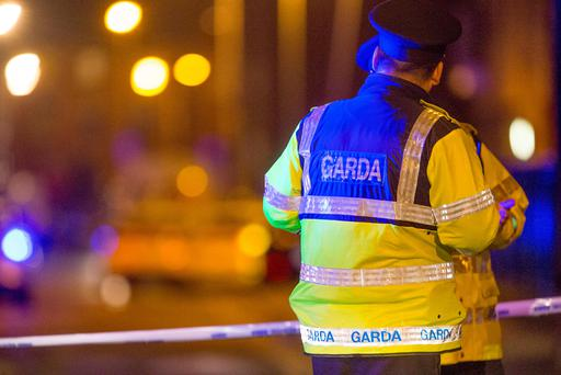 Gardai investigate the shooting of a man on Railway street in Dublin's North Inner city. Picture:Arthur Carron