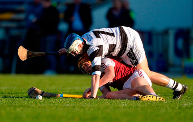 Jerry Kelly of Our Lady's Secondary School Templemore in action against Killian Egan of St Kieran's College. Photo by Piaras Ó Mídheach/Sportsfile
