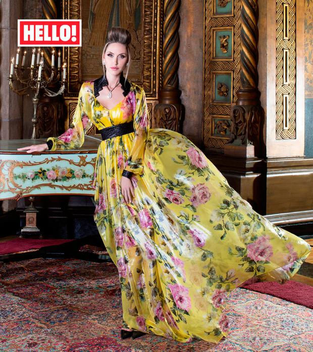 Lara Trump as she appears in this week's edition of the magazine. PRESS ASSOCIATION Photo. Picture: Hello! /PA Wire