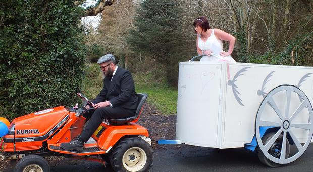 Liza's transport on Don't Tell The Bride. Image: RTE