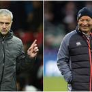 Jose Mourinho (left) and Eddie Jones (right).