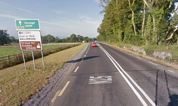 The N25 in the Knocknagranagh, Dungarvan area, close to where the incident occurred (Photo: Google Maps)