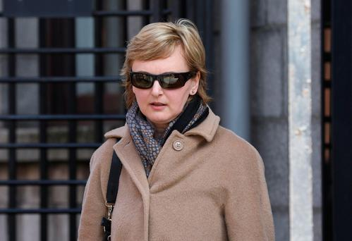 Vera Biskupova,with an address at Stepaside, Dublin, but who now lives in Killarney, Co Kerry, pictured leaving the Four Courts after she was awarded €25,234 damages following a Circuit Civil Court action. Pic: Collins Courts