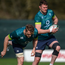 Jamie Heaslip and Donnacha Ryan go through their paces during an Irish training session in Carton House earlier this month. Photo: David Fitzgerald/Sportsfile
