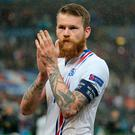 Iceland captain Aron Einar Gunnarsson. Photo: Matthew Ashton/AMA/Getty Images