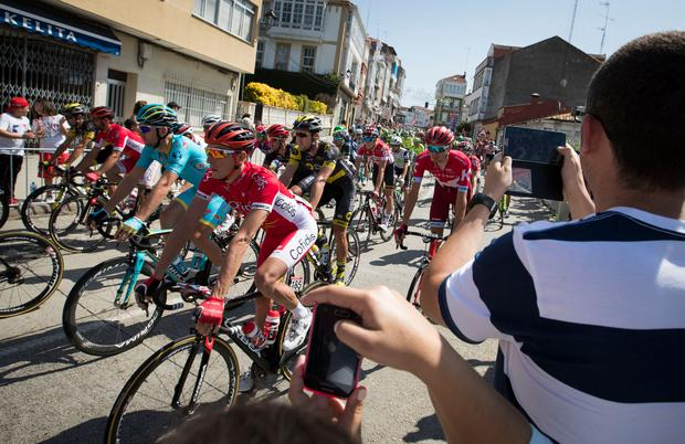 Aqua Blue will make their Grand Tour debut when the Vuelta lines up in the French town of Nimes on August 19 ahead of 21 stages covering a gruelling 3,297km until the race finishes in Madrid on September 10. Photo: AFP/Getty Images