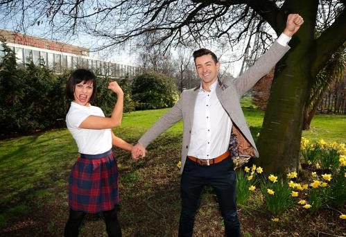 Aidan O'Mahony gets in one last dance with show partner Valeria Milova in Dublin before he returns to work today. Photo: Damien Eagers