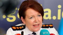 Garda Commissioner Nóirín O'Sullivan at Garda Headquarters yesterday. Photo: Stephen Collins/Collins Photos