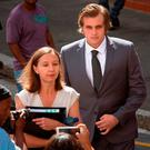 Henri Van Breda arrives at court for his trial for allegedly killing his parents and brother with an axe. Photo: AFP/Getty Images