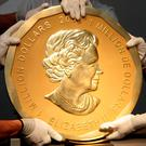 The coin is made of pure gold, weighs about 100kgs and has a face value of around $1m (€918,000). Photo: REUTERS
