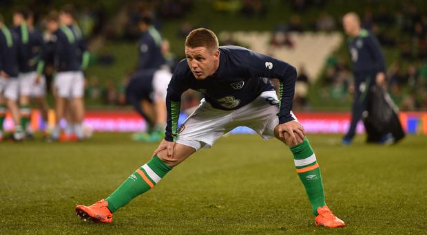 James McCarthy aggravated a hamstring injury in the warm-up for the game with Wales last Friday