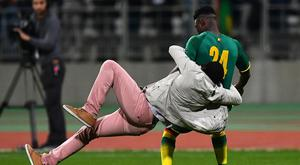 Lamine Gassama was rugby tackled by a fan