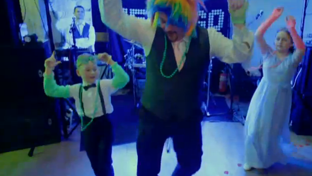 Dad dancing on Don't Tell The Bride. Credit: RTE