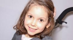 Little Tilara (6) was diagnosed with spastic diplegia cerebral palsy when she was 12 months old.